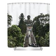 Big Budah Shower Curtain