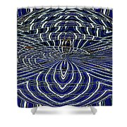 Big Building Abstract Shower Curtain