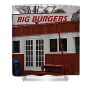 Big Burgers Shower Curtain