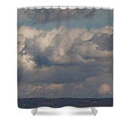 Big Clouds  Shower Curtain