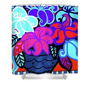 Big Colorful Lillies 2 Shower Curtain