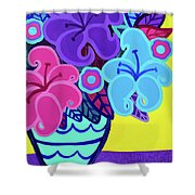 Big Colorful Lillies Shower Curtain