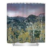 Big Cottonwood Canyon Sunrise Shower Curtain