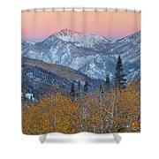 Big Cottonwood Canyon Wasatch Sunrise Shower Curtain