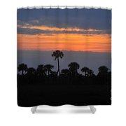 Big Cypress Sunset Shower Curtain