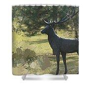 Big Deer Shower Curtain