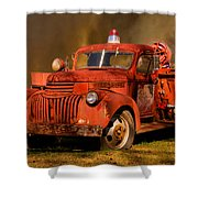 Big Fire - Old Fire Truck Shower Curtain