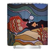 Big Fish And Little Fish Shower Curtain