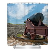 Big Gun Tracks Shower Curtain