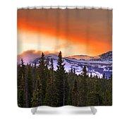 Big Horn Sunset Shower Curtain
