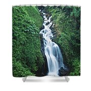 Big Island Watefall Shower Curtain