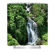 Big Island Waterfall Shower Curtain