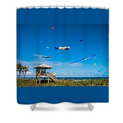 Big Kites Delray Beach Shower Curtain