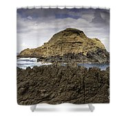 Big Lava Rock Madeira Portugal Shower Curtain