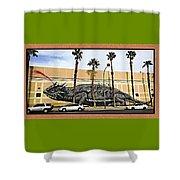Big Lizard Shower Curtain