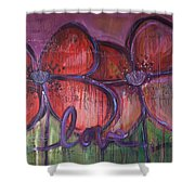 Big Love Poppies Shower Curtain