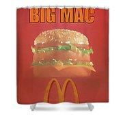 Big Mac Poster Shower Curtain