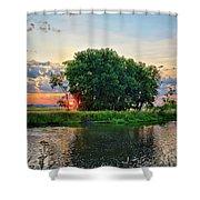 Big Marsh Sun Shower Curtain