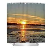 Big Marsh Sunset 4 Shower Curtain