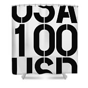 Big Money 100 Usd Shower Curtain