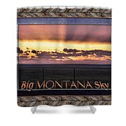 Big Montana Sky Shower Curtain