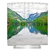 Big Mountain Reflections In Patterson Bay Alaska Shower Curtain
