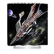 Big, Old Space Shuttle Of Dead Civilization Shower Curtain