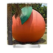Big Orange At Melbourne On The East Coast Of Florida Shower Curtain