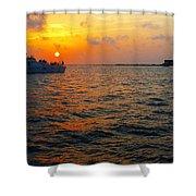 Big Pass Sunset Sarasota Florida Shower Curtain