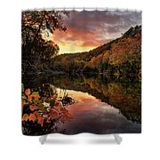 Big Piney Sunset Shower Curtain