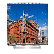 Big Red Bank Shower Curtain