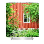 Big Red Barn Shower Curtain