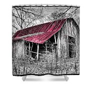 Big Red Shower Curtain by Debra and Dave Vanderlaan