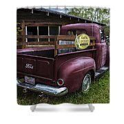 Big Red Ford Truck Shower Curtain