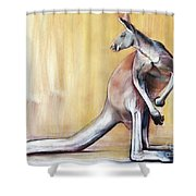 Big Red  Kangaroo Shower Curtain