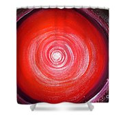 Big Red Star. Space Art Shower Curtain