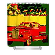 Big Red Truck Shower Curtain