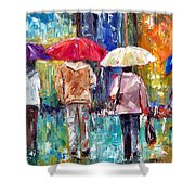 Big Red Umbrella Shower Curtain