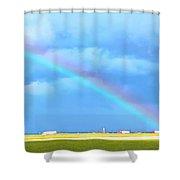 Big Rig Rainbow Shower Curtain