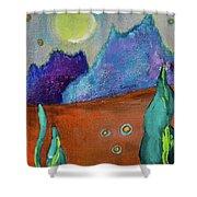 Big Rock Candy Mountain Shower Curtain