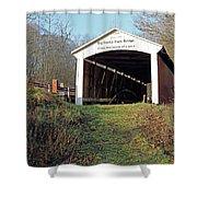 Big Rocky Fork Bridge Indiana Shower Curtain