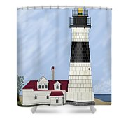 Big Sable Michigan Shower Curtain