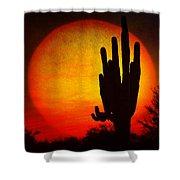 Big Saguaro Sunset Shower Curtain