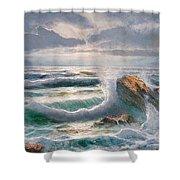 Big Seastorm - Italy Shower Curtain