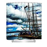 Big Ships Shower Curtain