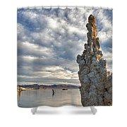 Big Sky And Tufa, Mono Lake, California Shower Curtain