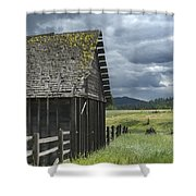 Big Sky Cabin Shower Curtain