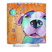 Big Smile - Dog Art By Valentina Miletic Shower Curtain