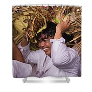 Big Smile From Bali Shower Curtain
