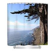 Big Sur Coastline Shower Curtain by Linda Woods